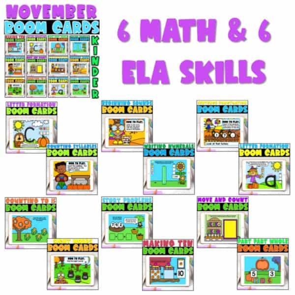 Boom Cards™ for Distance Learning | Kindergarten Growing Bundle 6