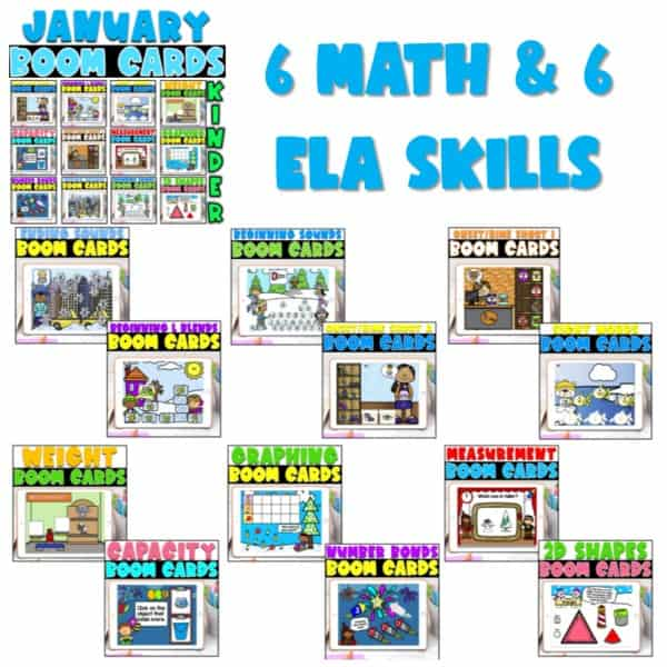 SEESAW Preloaded Themed Math and Literacy Centers | Growing Bundle 13
