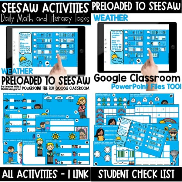 SEESAW Preloaded Themed Math and Literacy Centers | Growing Bundle 12