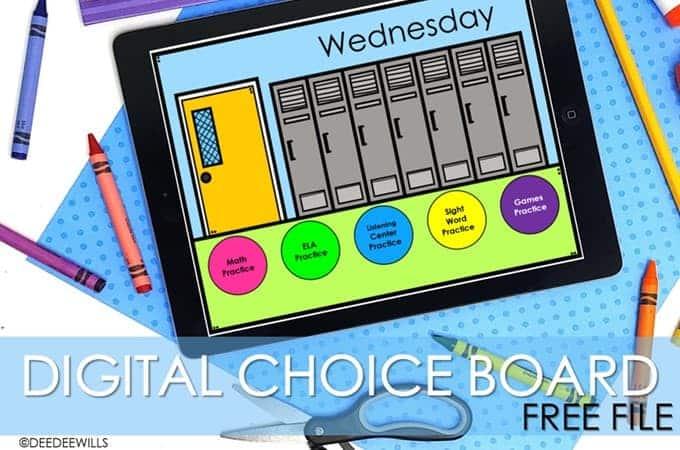 Digital Choice Board Free Template