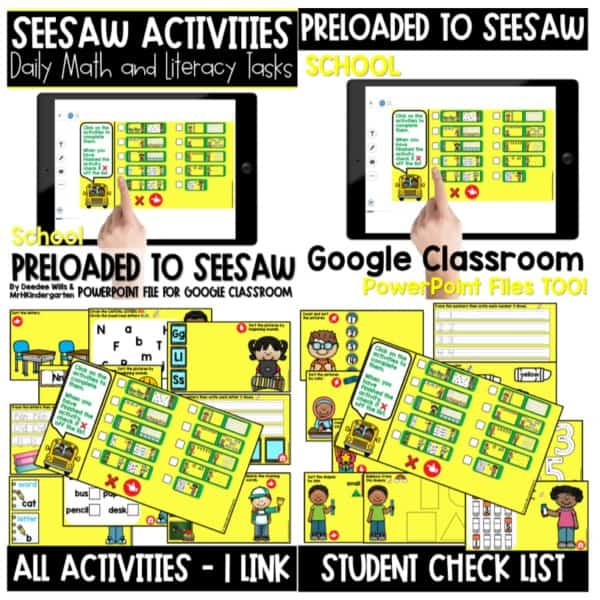 SEESAW Preloaded Themed Math and Literacy Centers | Growing Bundle 7
