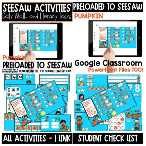 SEESAW Preloaded Themed Math and Literacy Centers | Growing Bundle 3