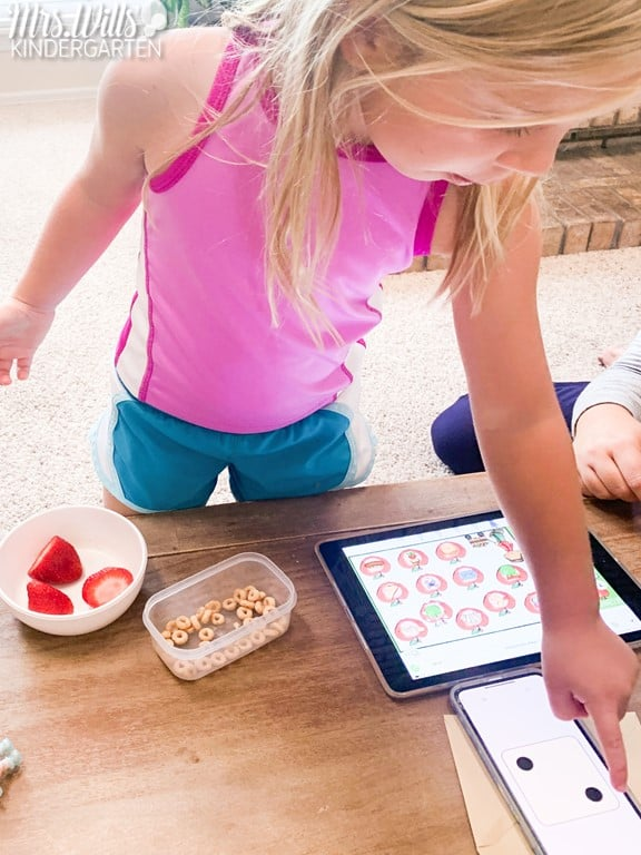 Digital math and literacy games to practice kindergarten & 1st grade skills for the entire year! Students will love these predictable, themed activities.