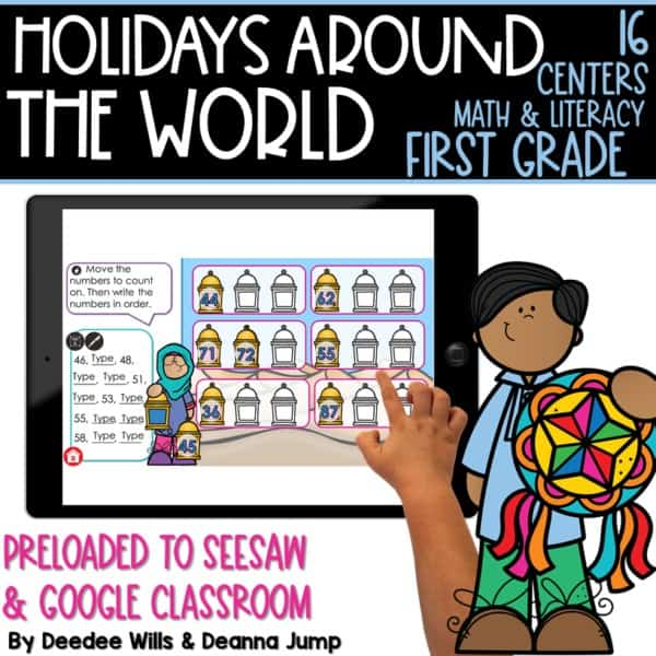 SEESAW Preloaded Holidays Around the World Centers   First Grade 1