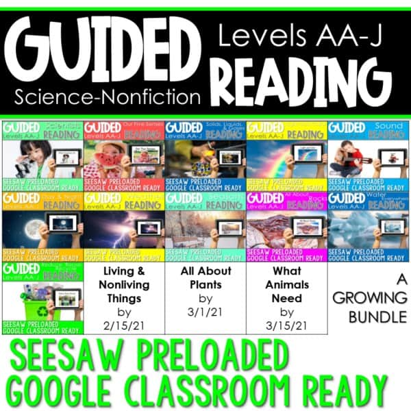 SEESAW Preloaded Guided Reading Nonfiction | Growing Bundle 1