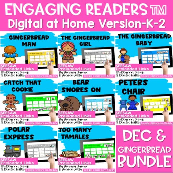 SEESAW Engaging Readers December and Gingerbread BUNDLE 1