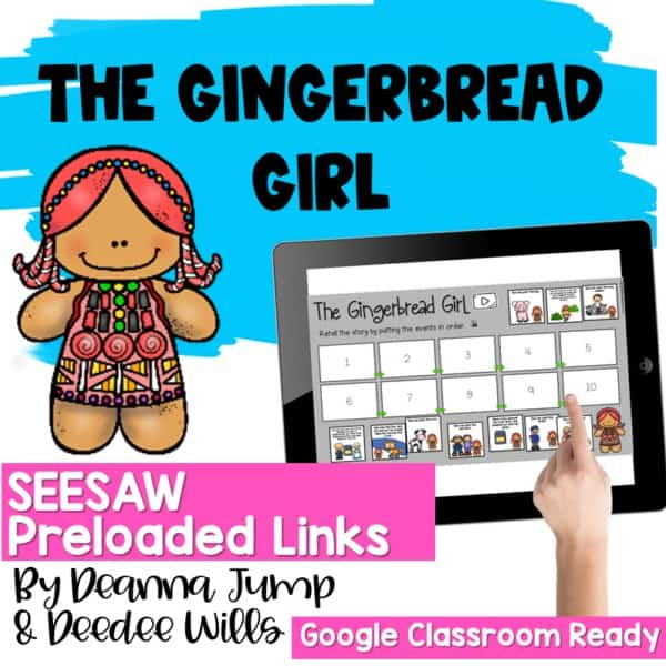 SEESAW Engaging Readers December and Gingerbread BUNDLE 12