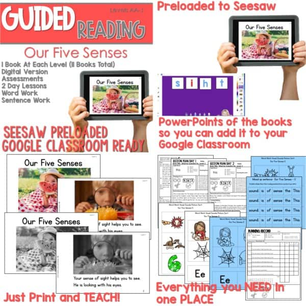 SEESAW Preloaded Guided Reading Nonfiction Bundle 7