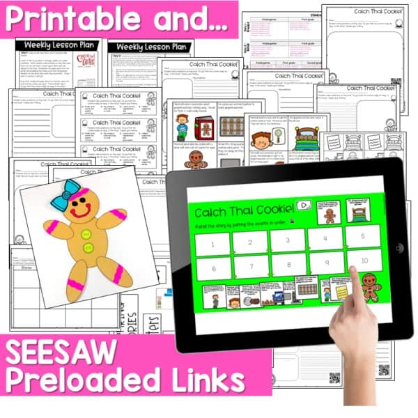 SEESAW Engaging Readers December and Gingerbread BUNDLE 9