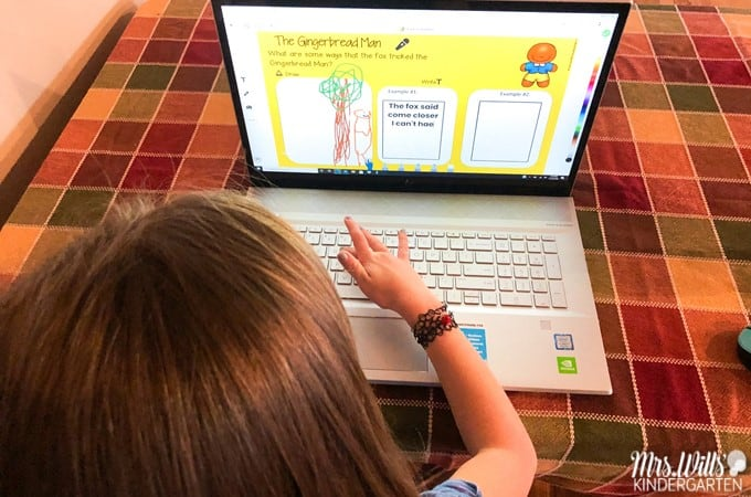 The Gingerbread Man digital activities to help you celebrate in your primary classroom. Students easily respond to literature with these preloaded Seesaw activities. Also available in Google Slides!