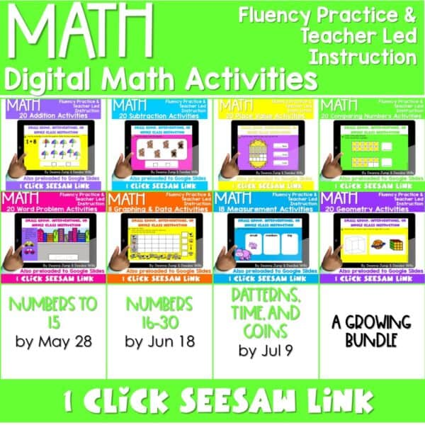 Digital Math Activities Growing Bundle 1