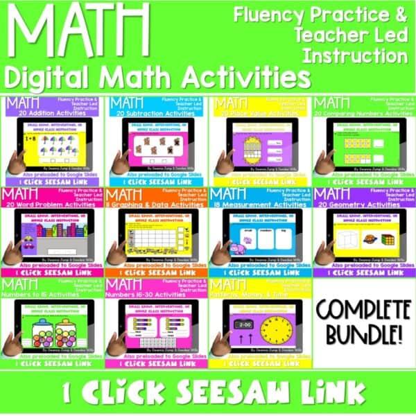 Digital Math Activities Bundle 1