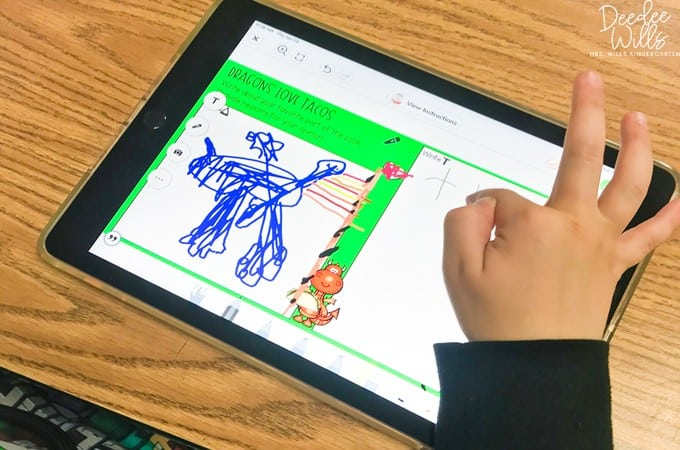 Dragons Love Tacos lesson plans with Seesaw preloaded digital activities, a PowerPoint for Google Slides, and printables! Students will love responding to literature with this fun story.