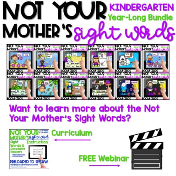 BOOM Not Your Mother's Sight Words | Kindergarten 1