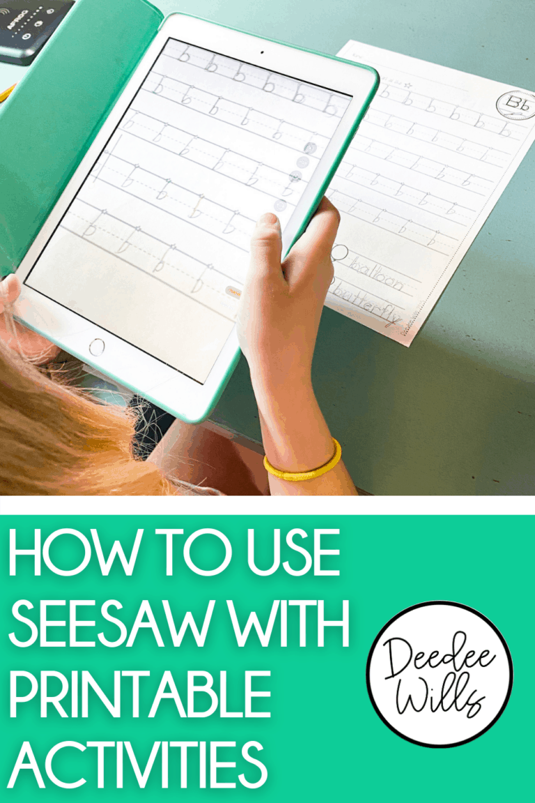 Seesaw can be used in multiple ways! Read about how to use Seesaw with printable activities in your classroom.