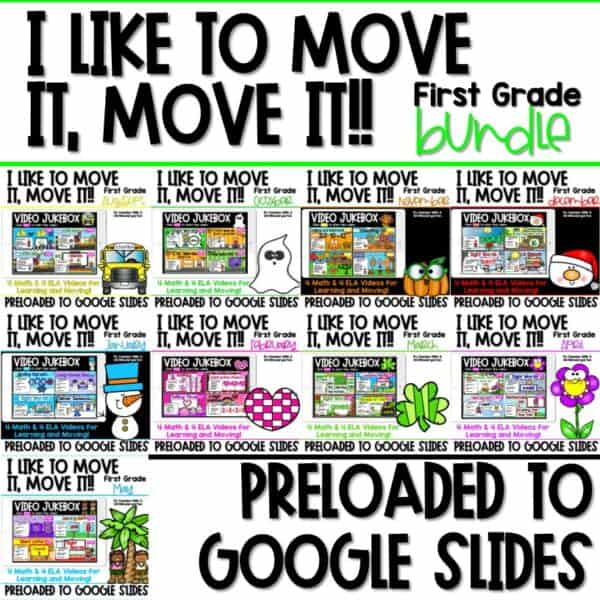 Movement and Learning for Classroom and Distance Learning 1st | Bundle 1