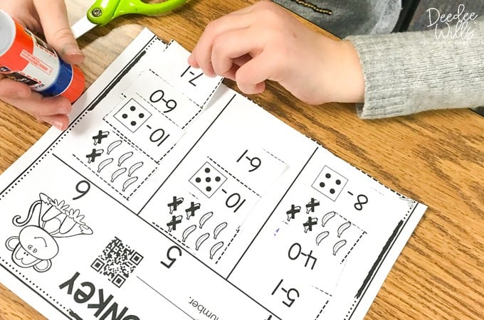 Grumpy Monkey book activities for kindergarten and first grade. Students respond to literature through written response and practice math and literacy skills with these digital and printable activities.