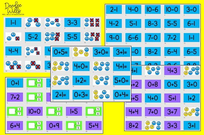 Digital addition and subtraction activities for Seesaw and Google Slides! Digital slides to practice addition and subtraction in whole-group, small-group, or as an intervention.