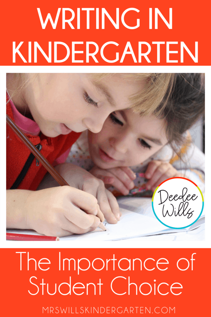 writing in kindergarten