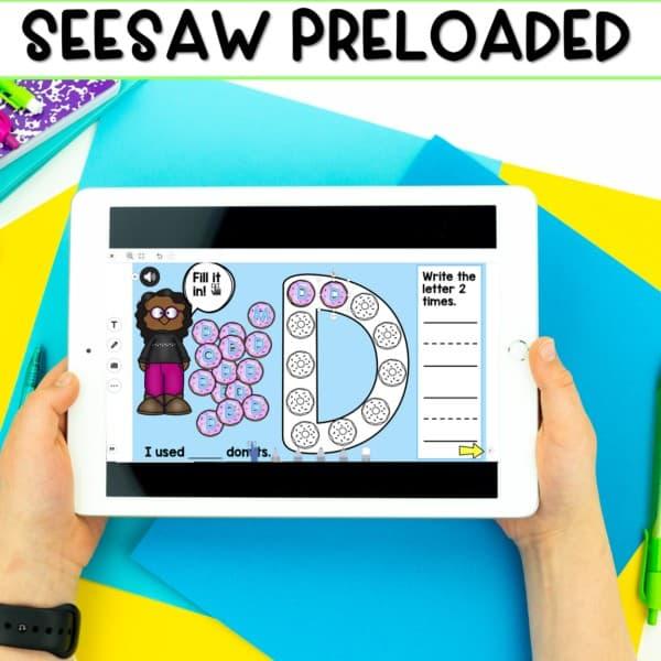 SEESAW & Google Classroom Digital Letter Practice 2