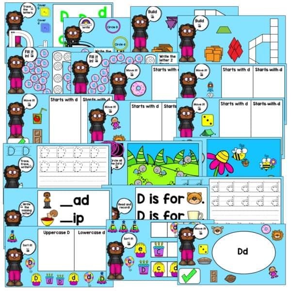 SEESAW & Google Classroom Digital Letter Practice 4