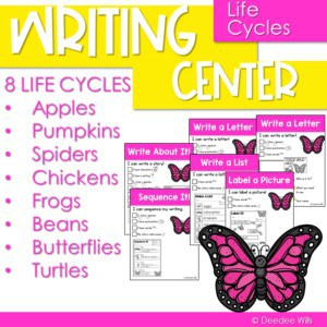 Writing center for kindergarten