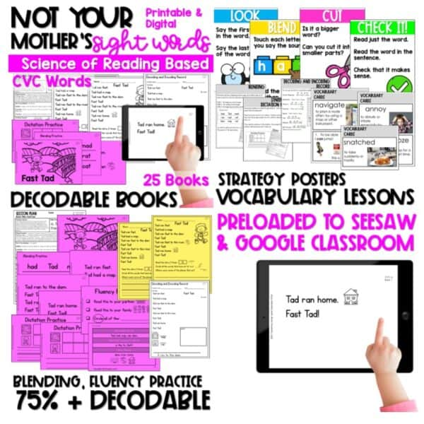 Science of Reading Decodable Readers Growing Bundle | k & 1 6