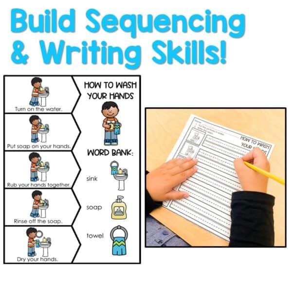 Retell and Write Center for Kindergarten | Growing Bundle 2