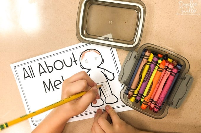 All about me activities for kindergarten and first grade that are perfect for back to school! Engaging activities for students to share about themselves and learn about new friends!