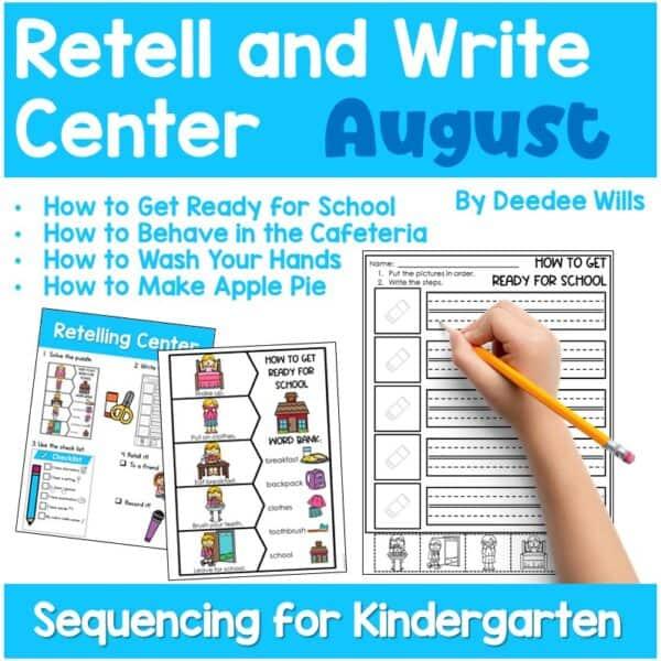 Retell and Write Center for Kindergarten | Growing Bundle 4