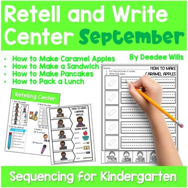 Retell and Write Center for Kindergarten | Growing Bundle 5