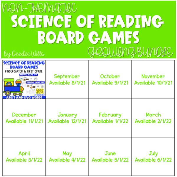 Science of Reading Board Games | Growing Bundle 1