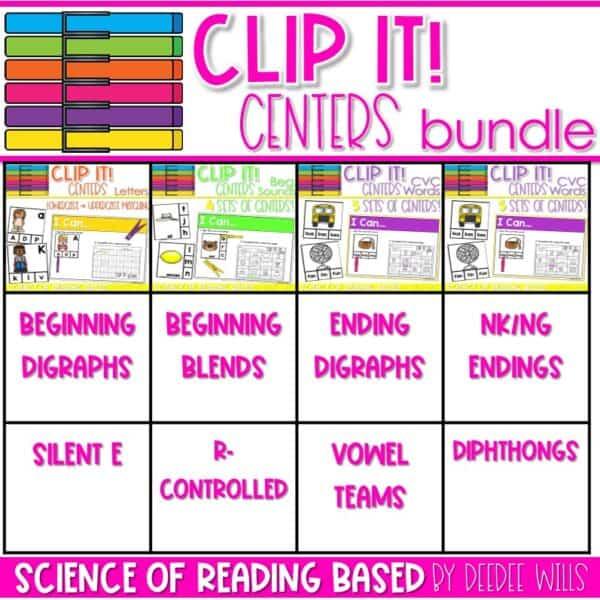 Clip It! Literacy Centers Growing Bundle 1