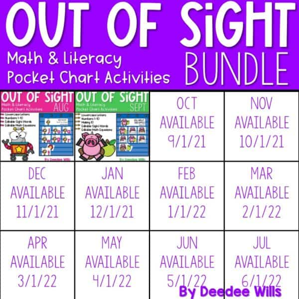 Out of Sight GROWING BUNDLE!   Editable Pocket Chart Games 1