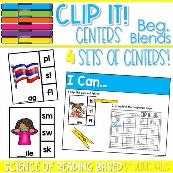 Clip It! Literacy Centers Growing Bundle 8