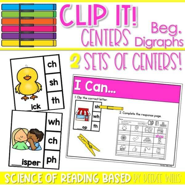 Clip It! Literacy Centers Growing Bundle 9