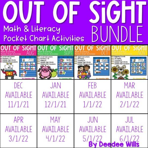 Out of Sight GROWING BUNDLE! | Editable Pocket Chart Games 1