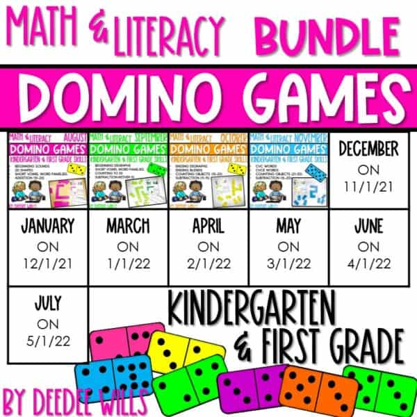 Domino Games | Math and Literacy Center GROWING Bundle 1