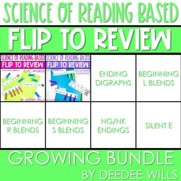 Science of Reading Small-Group Activities | Decodable Sentences | Growing Bundle 1
