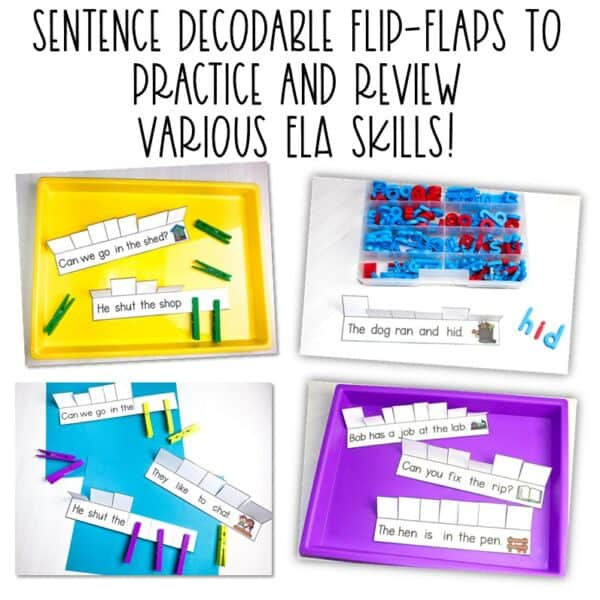 Science of Reading Small-Group Activities | Decodable Sentences | Growing Bundle 2
