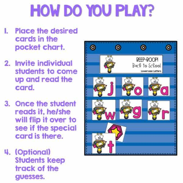 Out of Sight GROWING BUNDLE!   Editable Pocket Chart Games 2