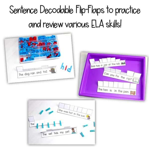 Science of Reading Small-Group Activities   Decodable Sentences   Growing Bundle 2