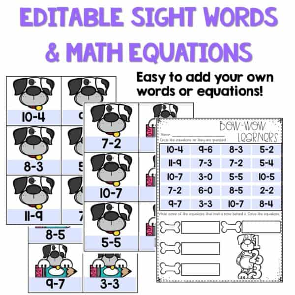 Out of Sight GROWING BUNDLE!   Editable Pocket Chart Games 3