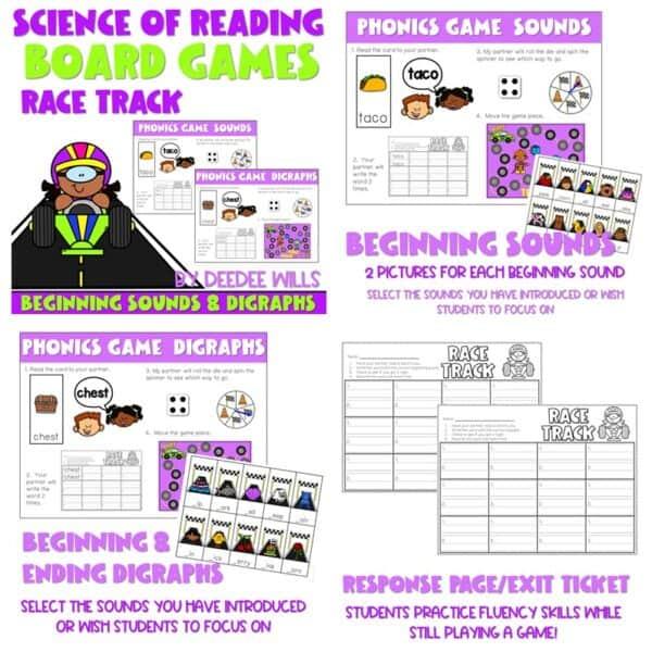 Science of Reading Board Games | Growing Bundle 7