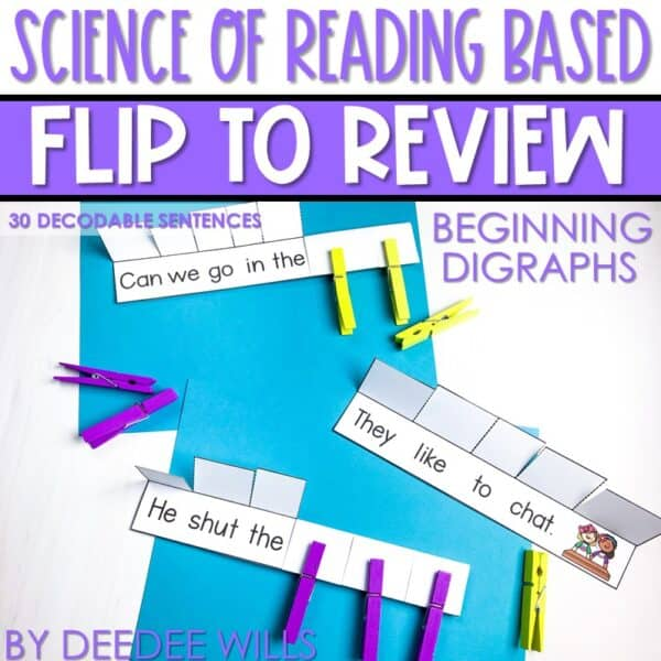 Science of Reading Small-Group Activities | Decodable Sentences | Growing Bundle 4