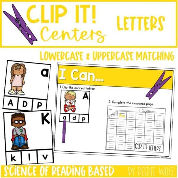 Clip It! Literacy Centers Growing Bundle 7
