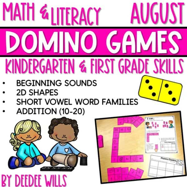 Domino Games | Math and Literacy Center GROWING Bundle 4