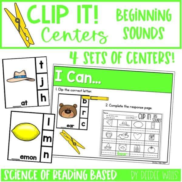 Clip It! Literacy Centers Growing Bundle 6