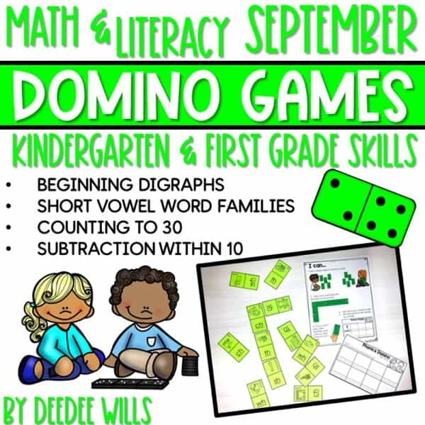 Domino Games | Math and Literacy Center GROWING Bundle 5