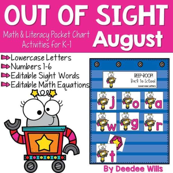 Out of Sight GROWING BUNDLE!   Editable Pocket Chart Games 5